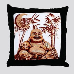 Riyah-Li Designs Happy Buddha Throw Pillow